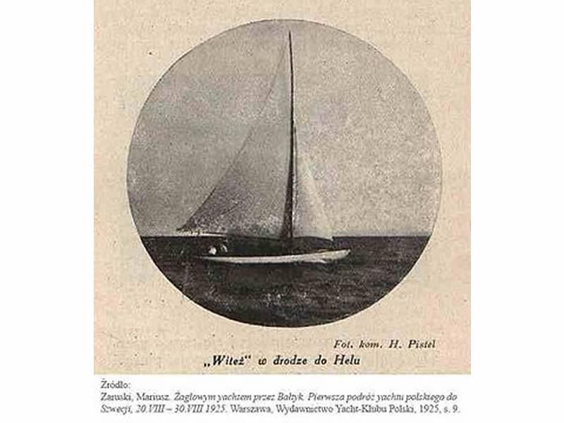 90 rocznica pierwszego rejsu morskiego jachtu YKP Witeź z roku 1925