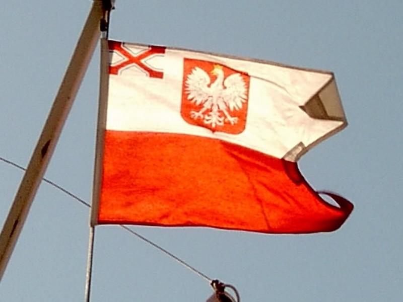 Uroczystość podniesienia bandery w YKP Gdynia